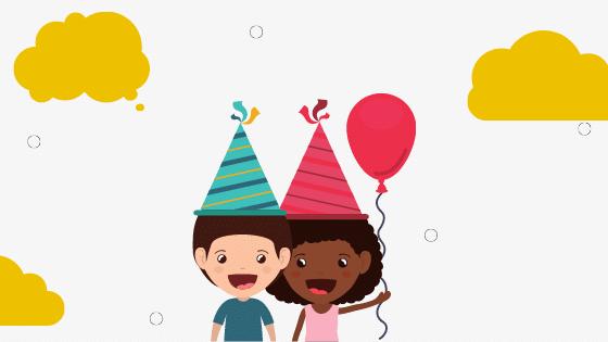 Uitnodiging voor een kinderfeestje